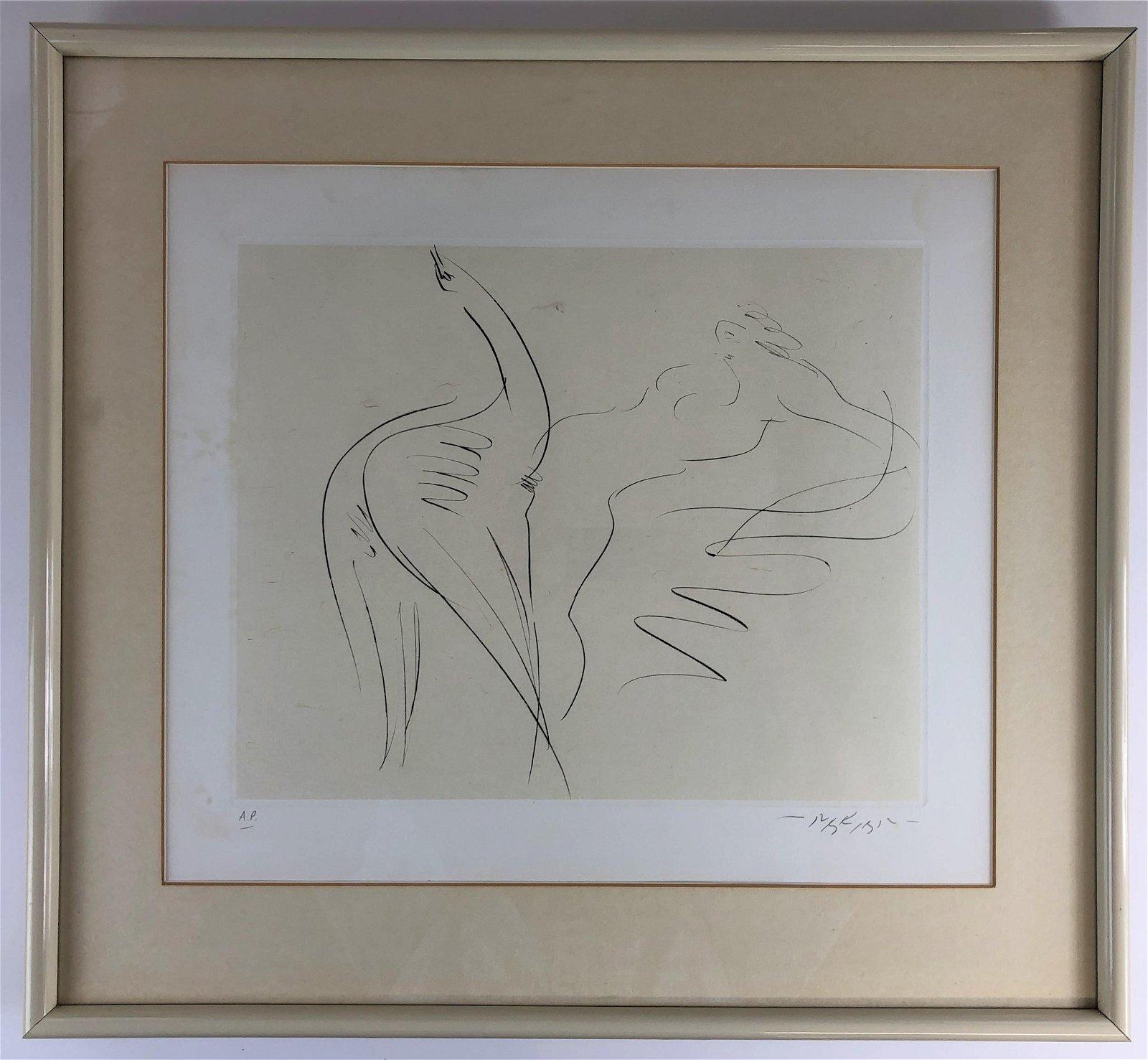 Artist Proof Intaglio Print on Paper