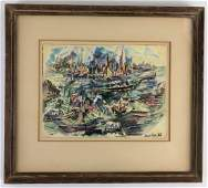 David Fredenthal (1914-1958) Watercolor on Paper, New