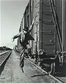 """Horace Bristol (1908-1997), """"Brakeman Jumping from"""