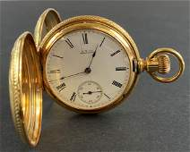 18k Gold Case Waltham Hunter's Pocket Watch