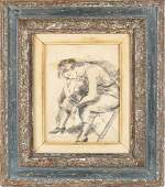 Raphael Soyer Sketch in Heydenryck Frame
