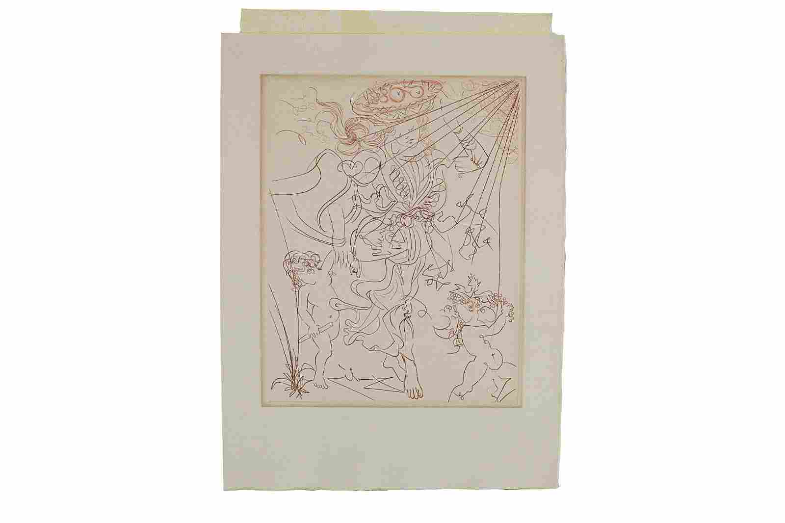 Salvador Dali (Spanish, 1904-1989), Etching on Paper