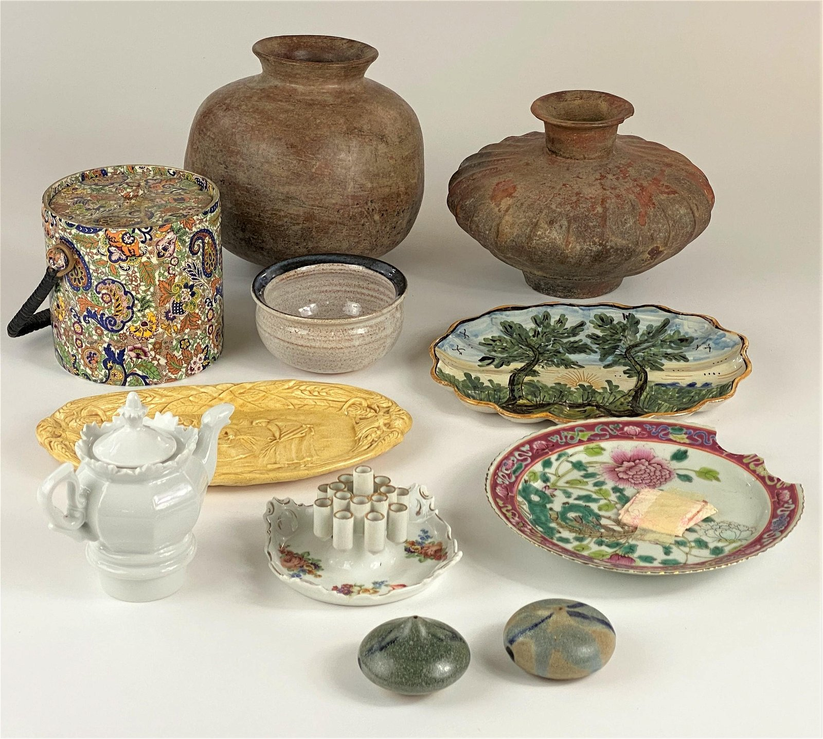 Large Group of Pottery and Porcelain