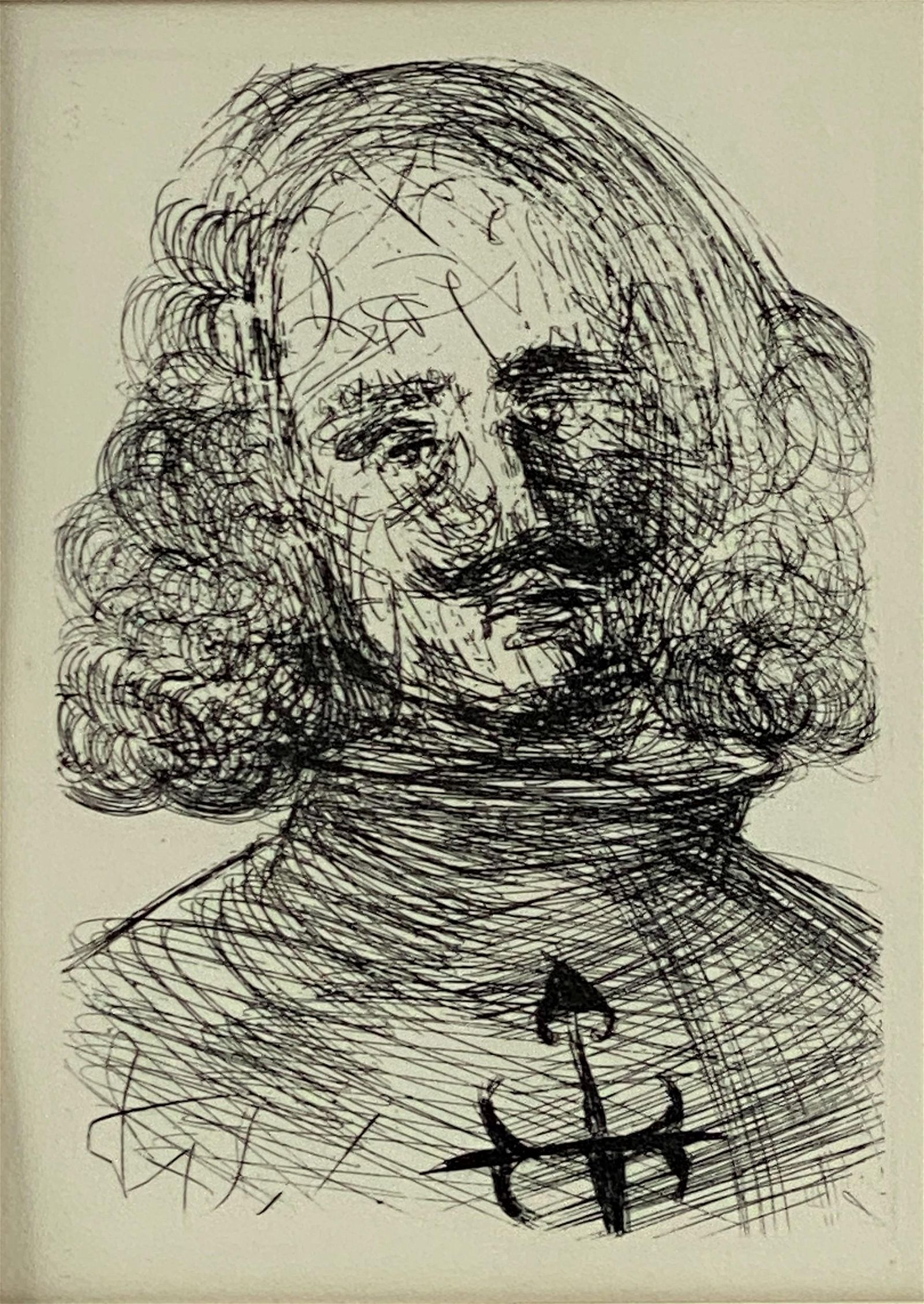 Salvador Dali (Spanish, 1904-1989), Etching of