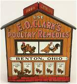 Extremely Rare E.O. Clark's Poultry Remedies Tin