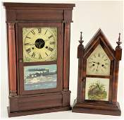 Pair of Antique Shelf Clocks