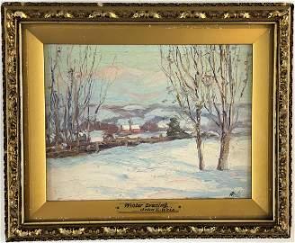 """John E. Weis (1892 - 1962), """"Winter Evening"""""""