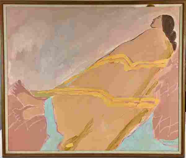 R. C. Gorman (Navajo, 1931-2005), Oil on Canvas
