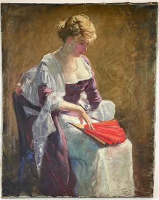 Impressionist Portrait of Woman, Weis Attribution
