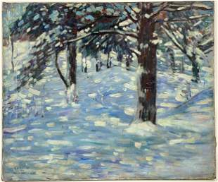 Winter Landscape by Charles Saelis Kaelin