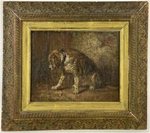 Early 20th Century Painting of a Dog