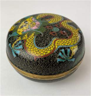 Chinese Cloisonne Covered Box