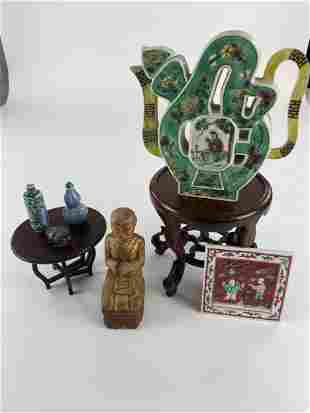 Chinese Stands, Porcelains and Cabinet Pieces