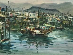 Chin Chung (Chinese, b. 1933), Watercolor