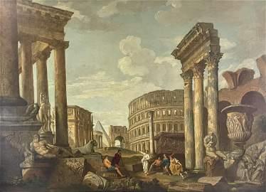 An Italian Capriccio Painting with Giovanni Panini