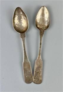 Asa Blanchard Kentucky Coin Silver Spoons