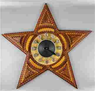 Tramp Art Clock