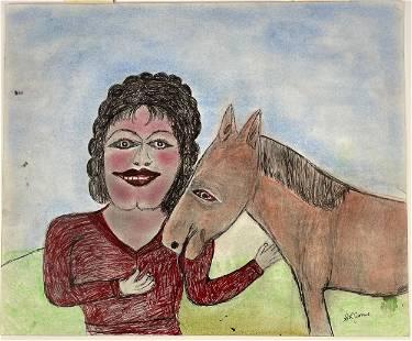 S.L. Jones, Portrait of a Man and Horse