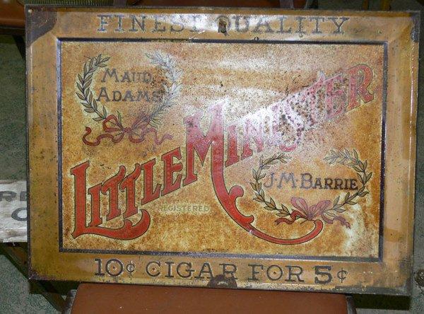 1004: Little Minister Maud Adams  Cigar tin adv 10 cent
