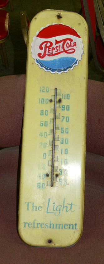 1021: Pepsi Cola thermometer the Light Refreshment yell