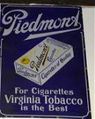1137: porcelain sign Piedmont For Cigarettes Virginia T