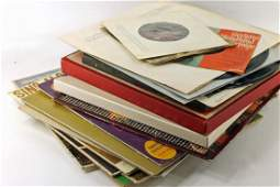 Stack of Vinyl Records with Mixed Genres