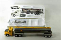 Die Cast Corvette Semi Truck and Car and Shell Truck
