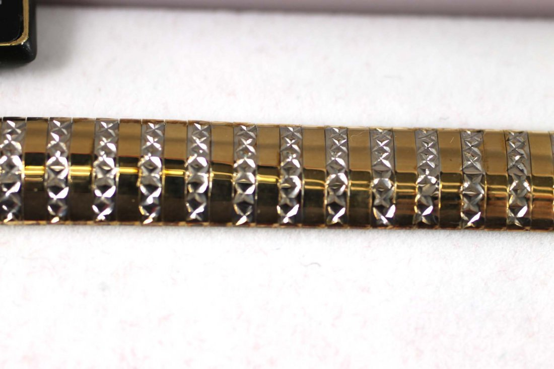 Sterling Silver and Gold Bracelet - 2