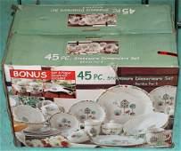 45 Pc Stoneware Dinnerware Set New in Box