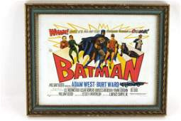 Framed Batman Print