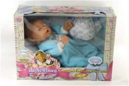 La Newborn Boy Baby Doll New in Package