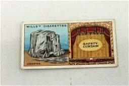 Asbestos Safety Curtain Tobacco Card Wills's Cigarettes