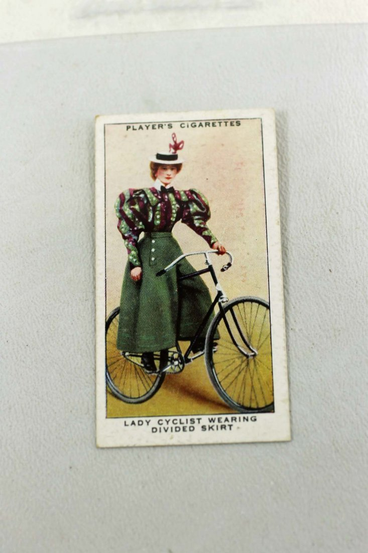 Lady Cyclist Wearing Divided Skirt Tobacco Card