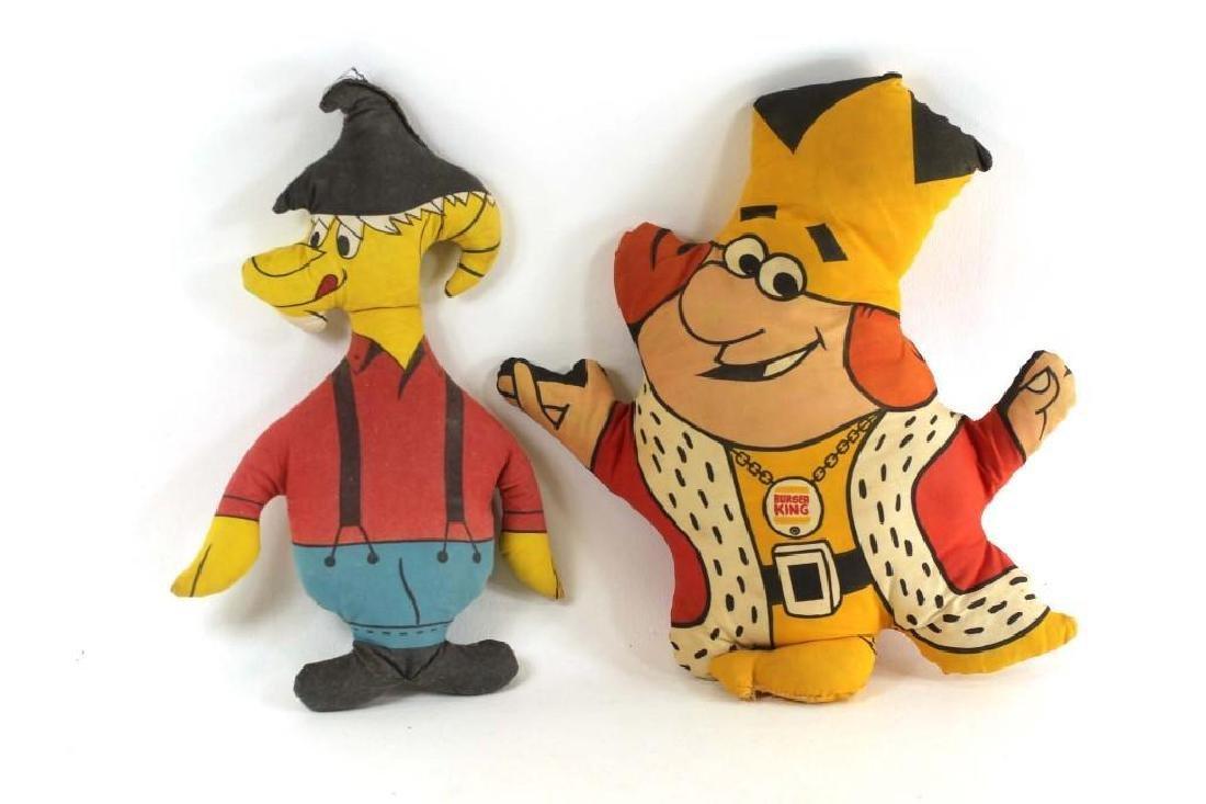 2 Vintage Plush Stuffed Cartoon Characters Burger King