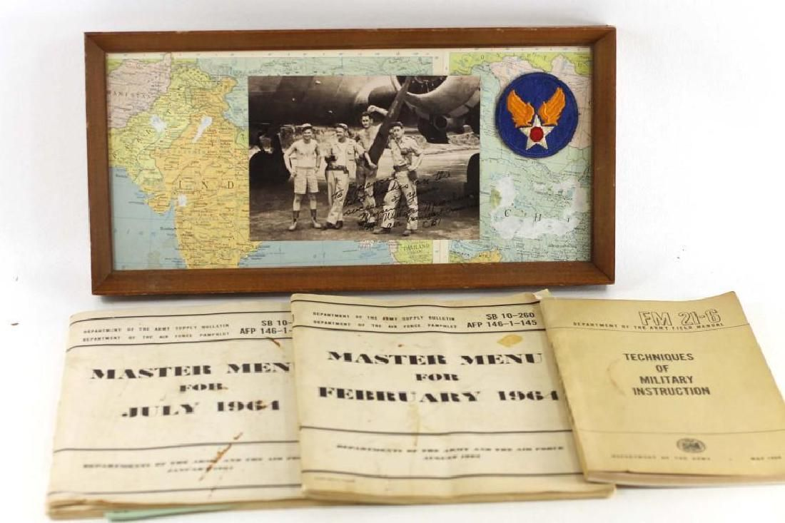Vintage Military Ephemera Collection incl Menus Map
