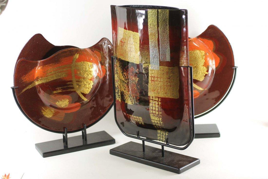 Set of 3 Modern Style Art Vases