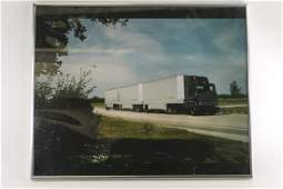 Framed Print of a UPS Truck