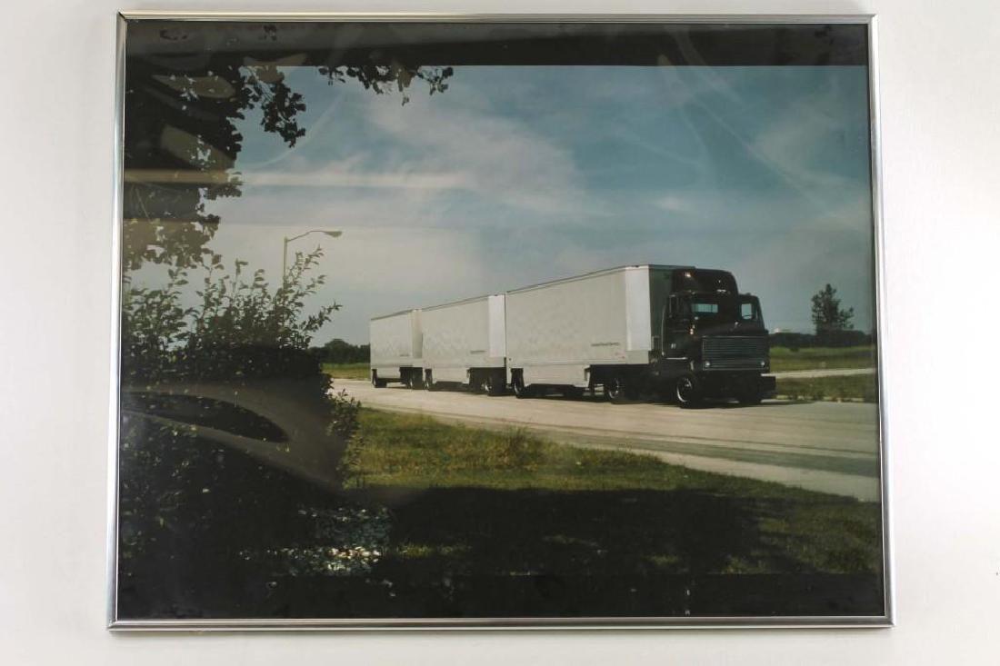 Framed Print of a UPS Truck