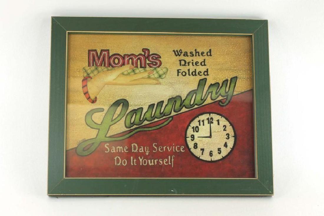 Mom's Laundry Framed Home Decor