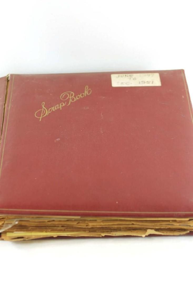 Old Scrapbook with Vintage Ephemera Greeting Cards ,