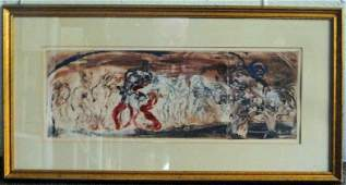 Adolf Benca Abstract Monoprint Signed and Dated