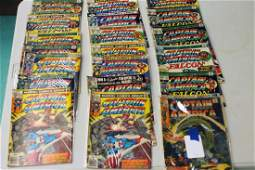 Lot of 20 Vintage Captain America Comic Books