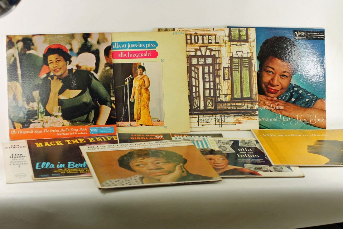 Lot of Ella Fitzgerald Vinyl Records 33 RPM LPs