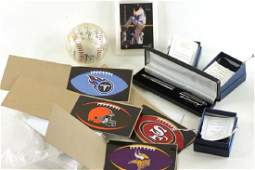 Lot of Sports Collectibles incl Chicago Bears Pen