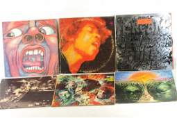 Lot of 6 Vinyl Records incl King Crimson Jimmy Hendrix
