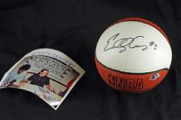 Eddy Curry Autographed Mini Basketball with COA