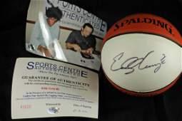 Eddy Curry Signed Mini Basketball with COA
