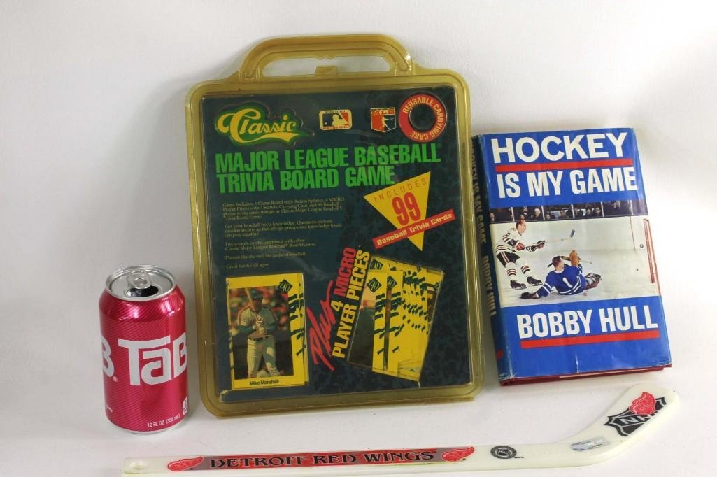 Sports Lot incl Baseball Trivia Board Game, Bobby Hull