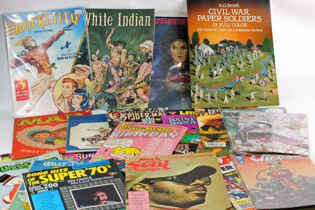 Lot of Vintage Magazines and Comic Books incl Mad