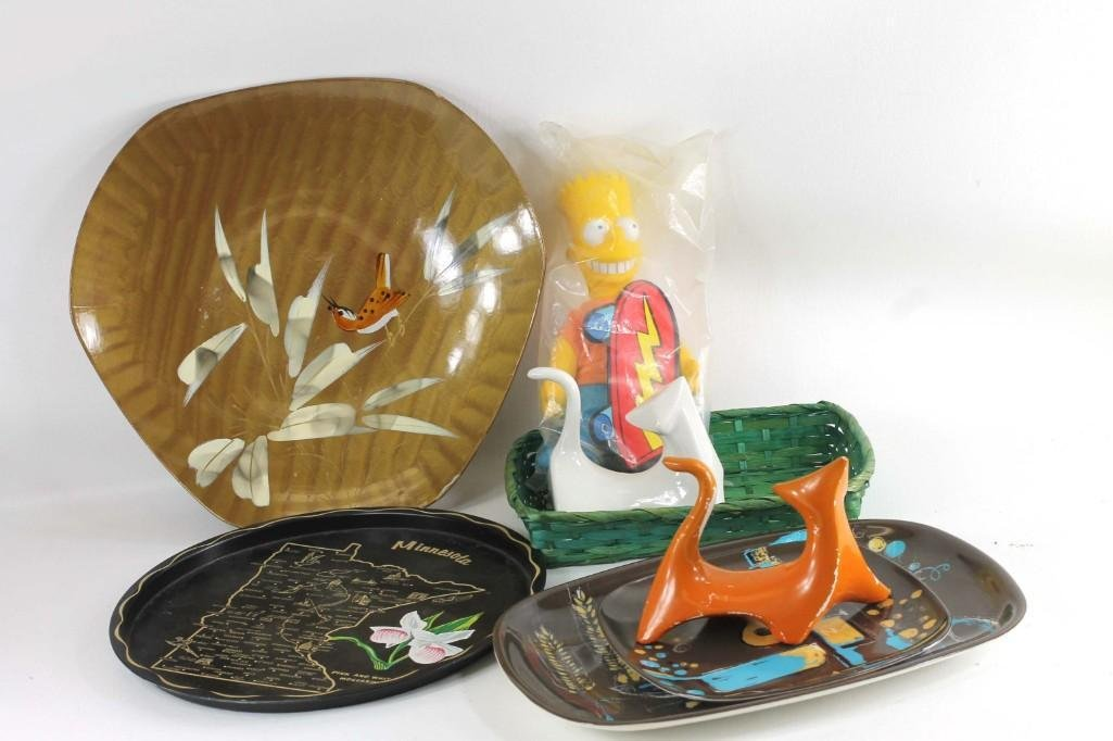 Lot of Collectibles incl Mid Century Cats , Bart